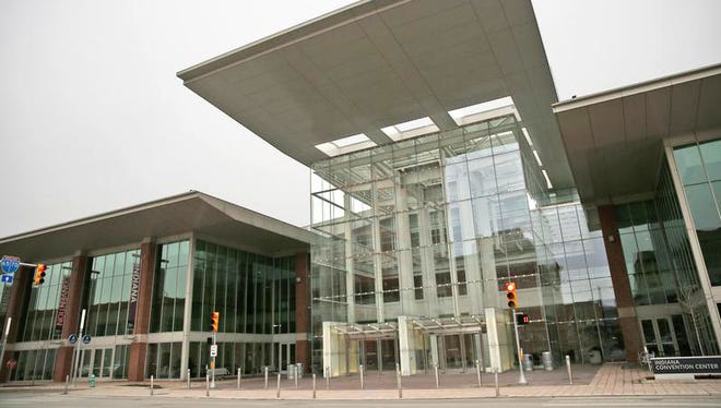 With a multimillion-dollar expansion, the Indiana Convention Center is one of the largest in the U.S., according to the Convention Center website. It uses contemporary design with a sense of openness, as seen at this entryway, Tuesday, Jan. 26, 2016.