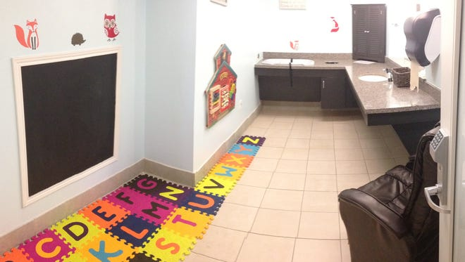 One of the nursing rooms at Dallas/Fort Worth International Airport.