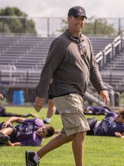 Lakeview head coach Matt Miller during a preseason scrimmage on Thursday.