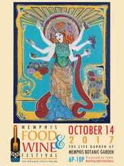 The poster for Memphis Food & Wine Festival 2017