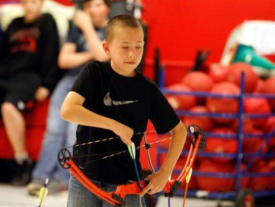 Seth Leland was cool and calm at Tuesday's archery