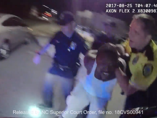 A screengrab from the recording of the body-worn camera