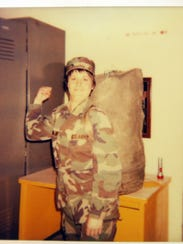 Therese VanMeter during her U.S. Army basic training.