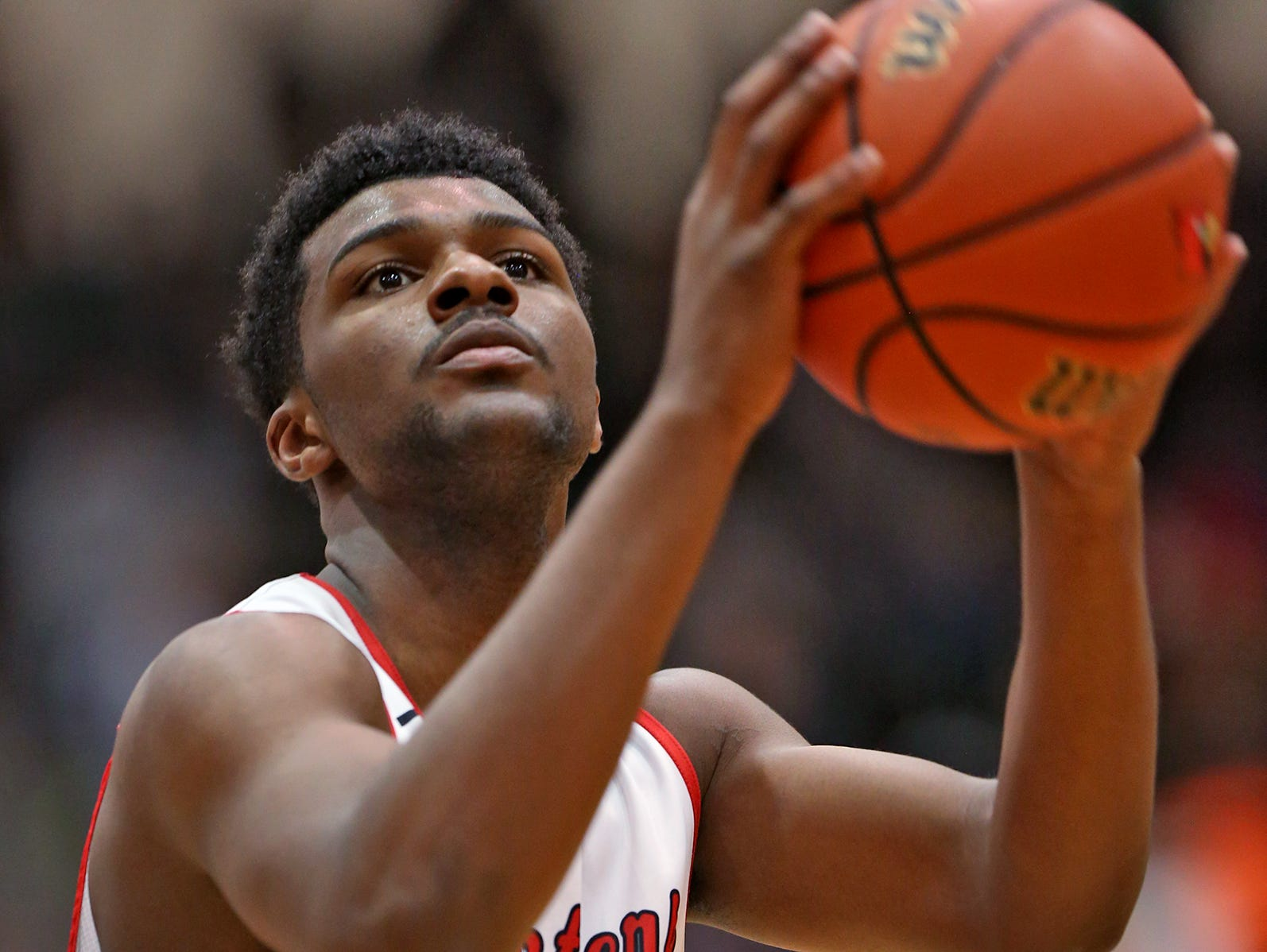 FILE -- North Central's #14 Emmanuel Little from earlier this season. He starred for the Class 4A No. 1 Panthers on Wednesday night.