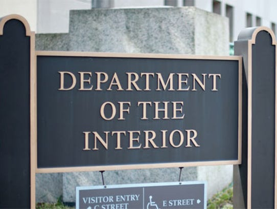 Department of the Interior sign.