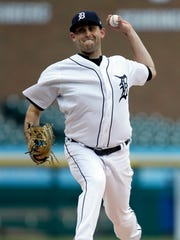 Tigers pitcher Matthew Boyd pitches during the third inning against the Royals on April 3, 2018, at Comerica Park.