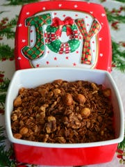 Cinnamon Date Walnut Granola makes a great gift for someone on the go or a friend who leads a healthier lifestyle.