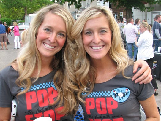 Just Pop In! owners Mandy Selke and Carly Swift.