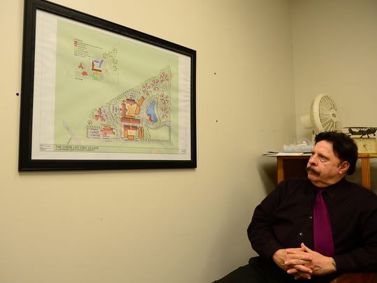 Anthony DelFranco, CHEER Director of marketing, talks about the rendering of the future CHEER Life Care Village to be built in Georgetown, De. on Wednesday, March 8, 2017.