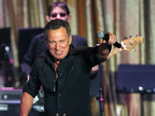 Bruce Springsteen at the Paramount Theatre in Asbury Park on Jan. 16, 2015.