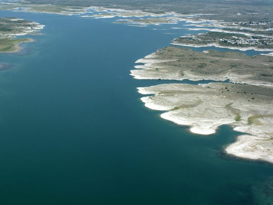 The U.S.-Mexico line runs through the middle of Lake Amistad in west Texas.