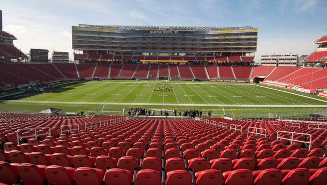 Levi's Stadium's red seats may not be to the Oakland Raiders' liking.