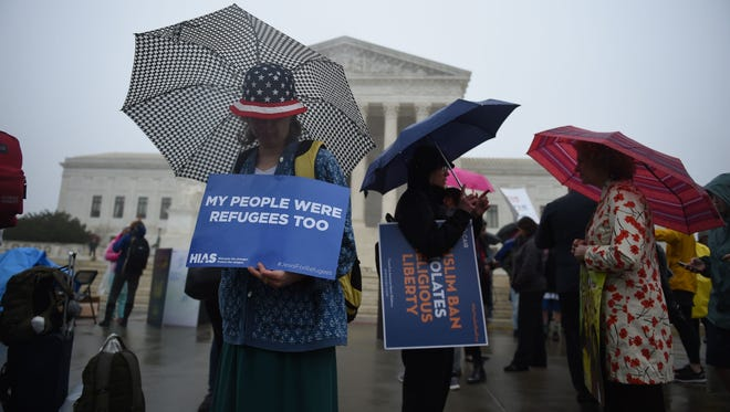 The final day of oral arguments Wednesday at the Supreme Court brought out a range of protesters.