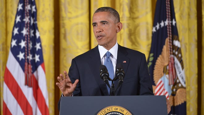 President Obama at a press conference in the East Room of the White House on Nov. 5, 2014.