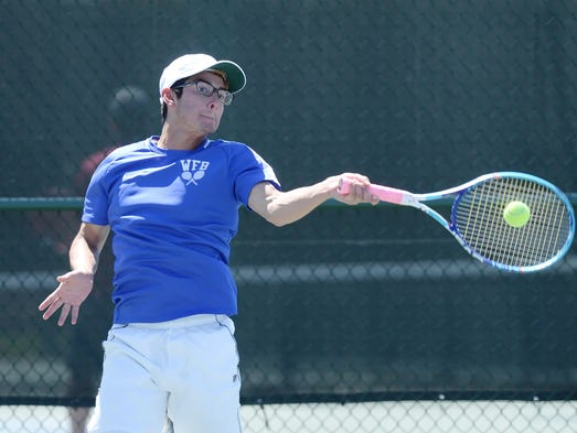 Whitefish Bay's Jack Gonzales takes a swing at the