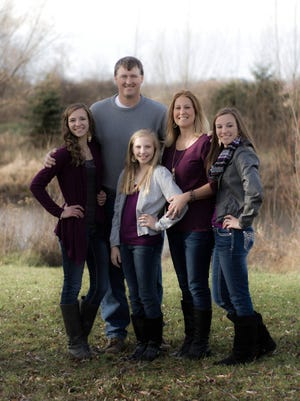 Chad and Tammy Vande Berg's most recent family picture, from left: Cassidy, 16; Chad (back); Callista, 10; Tammy and Cayley, 16.