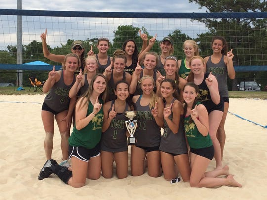 The Lincoln sand volleyball team won the city championship on Tuesday at Tom Brown Park, defeating Chiles 4-1 to cap an undefeated season.
