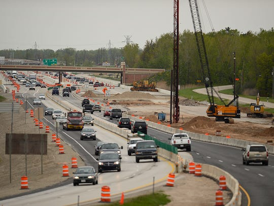 Traffic moves along U.S. 41 near the Lineville Road