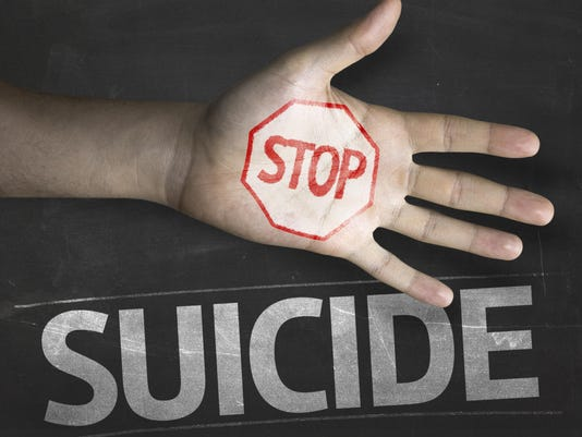 Educational and Creative composition with the message Stop Suicide