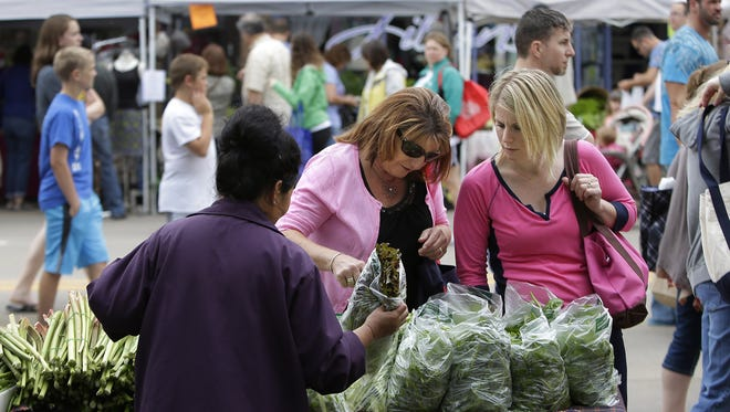 The Downtown Appleton Farm Market draws between 5,000 and 10,000 people on Saturday mornings during the summer, event organizers said.