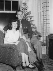 Paul and Cora Messinger shortly after they got married on Thanksgiving Day in 1950.