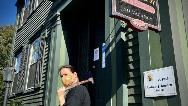 Lee-Ann Wilber, co-owner of Lizzie Borden Bed and Breakfast Museum, says business is down 70 percent since reopening in mid June.