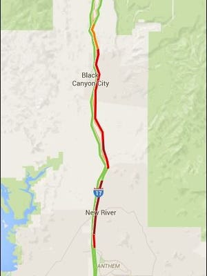 Holiday traffic and a crash created a 15-mile traffic jam in the northbound lanes of I-17 on May 27, 2016.