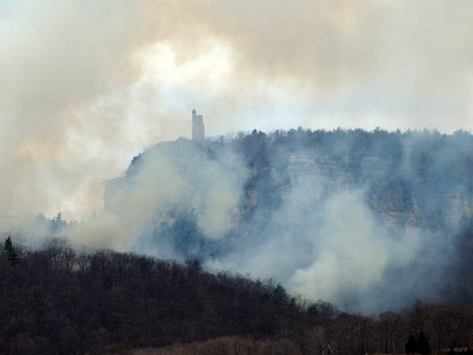 Prescribed burn Mohonk Preserve