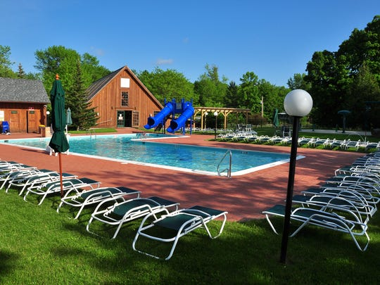 The resort features a heated indoor and outdoor pool,