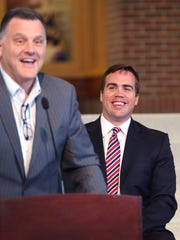 Ryan Vaughn (right), president of Indiana Sports Corp,