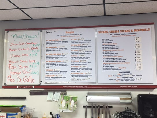 The menu at Hoagies on Main is in the process of expanding,