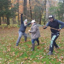 Dryden residents, college students help neighbors with 'Rake in the Good Deeds'