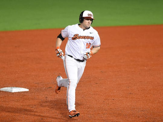 Oregon State infielder/designated hitter Gabe Clark was selected by the Toronto Blue Jays in the 26th round of the 2015 Major League Baseball Draft.