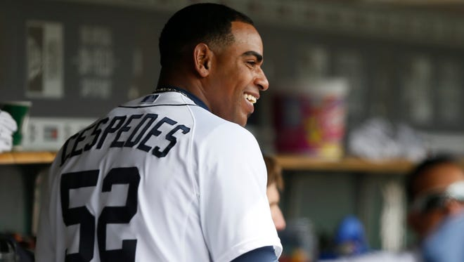 Detroit Tigers leftfielder Yoenis Cespedes hit two home runs in Sunday's 9-1 win over the Chicago White Sox, including a grand slam.