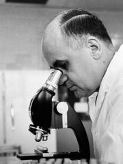 Dr. Maurice R Hilleman, Director of virus and cell