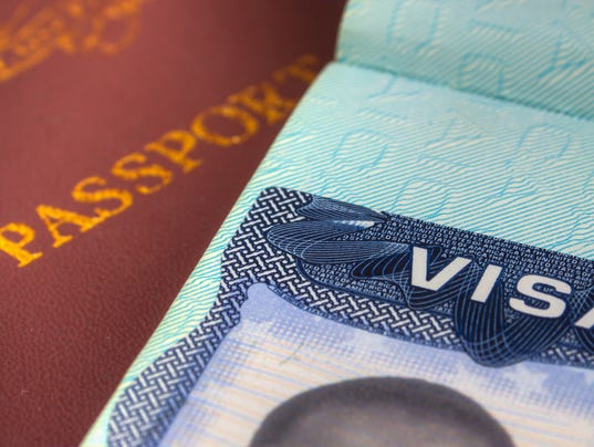 Passport and US Visa for Immigration