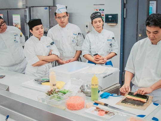 The culinary art of sushi making: From left: GCC Culinary