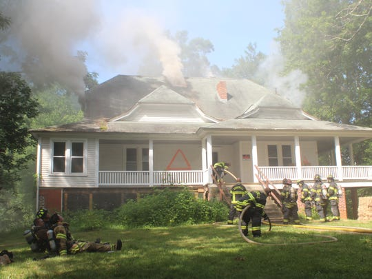 Controlled burns inside the more than 3,000 square foot structure allowed firefighters to enter the home on multiple occasions during the day-long training.