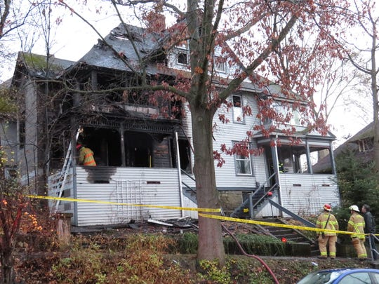 Firefighters extinguished a fire at a home on 120 Hudson