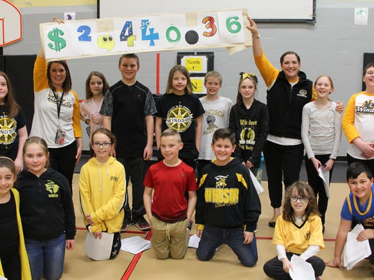 The Bell Elementary Pennies for Patients campaign raised