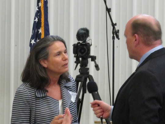 Linda Andrei and Rep. Tom Reed argued over healthcare