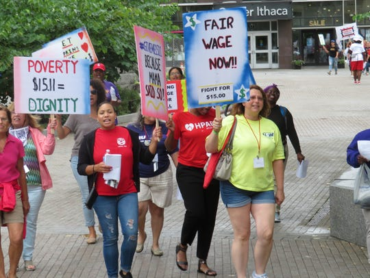 A large number of the women rallying were participants