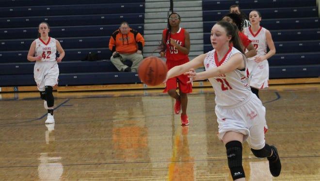 Sophomore Sarah Gardner racks up an assist for Bethel-Tate against Hughes.