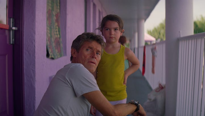 """In """"The Florida Project,"""" Bobby (Willem Dafoe) keeps"""