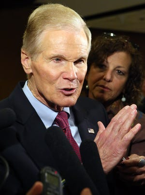 U.S. Sen. Bill Nelson, D-Fla., answers questions during a visit to the state Legislature in April 2015 in Tallahassee.