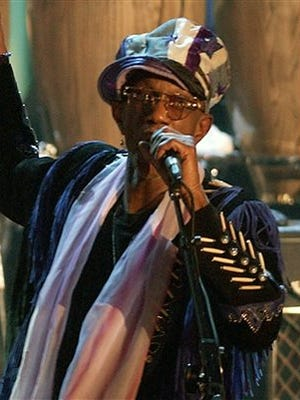 In this March 18, 2002, file photo, Bernie Worrell speaks at the Rock and Roll Hall of Fame in New York. Worrell, whose keyboard sounds and textures helped define the Parliament-Funkadelic musical empire, died of lung cancer at his home in Everson, Wash., on Friday, June 24, 2016. He was 72.