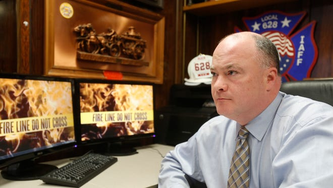 Barry McGoey, president of the Yonkers Fire Fighters Local #628, is shown in a file photo. He says Mount Vernon is abusing the county's mutual aid system.
