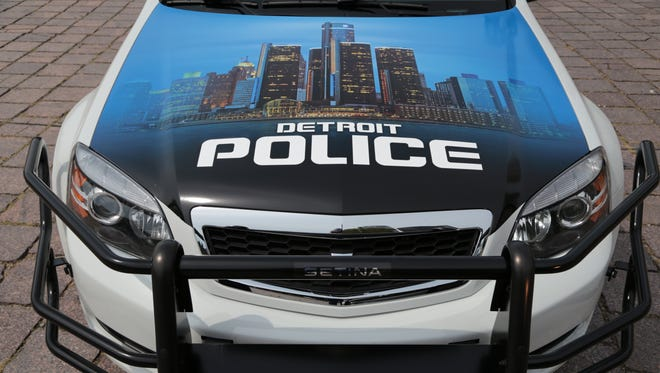 Detroit Police Department cruiser.