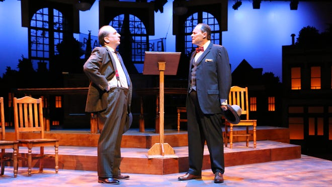 """Brian Webb Russell, left, and Henry O. Arnold in """"Inherit the Wind."""""""