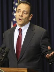 Gov. Matt Bevin, shown spaking last month, said he